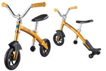 Беговел Micro G-bike Chopper Deluxe желтый